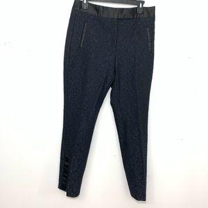Zara lace tuxedo pants blue and black size L